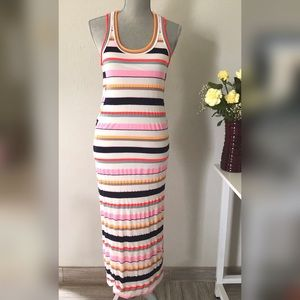 Marc Jacobs multi striped maxi racer back